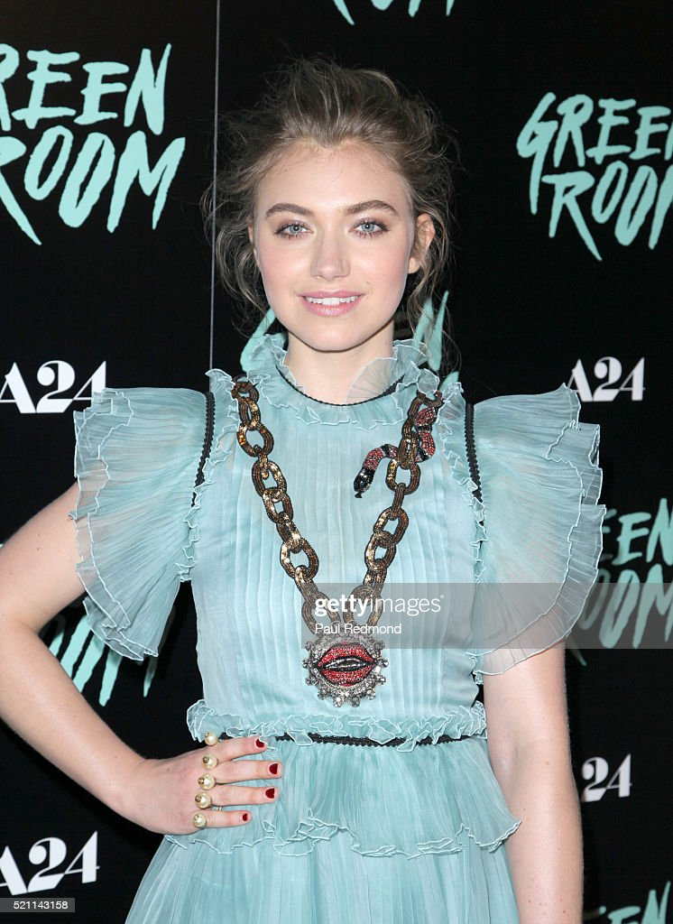 Actress Imogen Poots attends the Premiere of A24's 'Green Room' at ArcLight Hollywood on April 13, 2016 in Hollywood, California.
