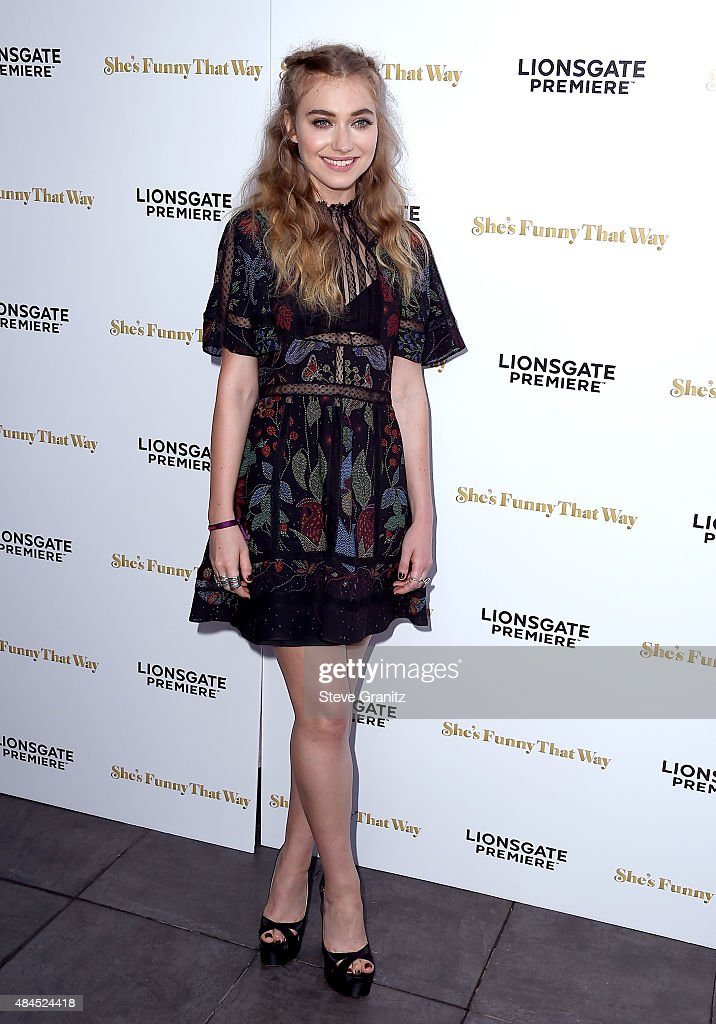 Actress Imogen Poots attends the premiere of Lionsgate Premiere's 'She's Funny That Way' at Harmony Gold on August 19 2015 in Los Angeles California