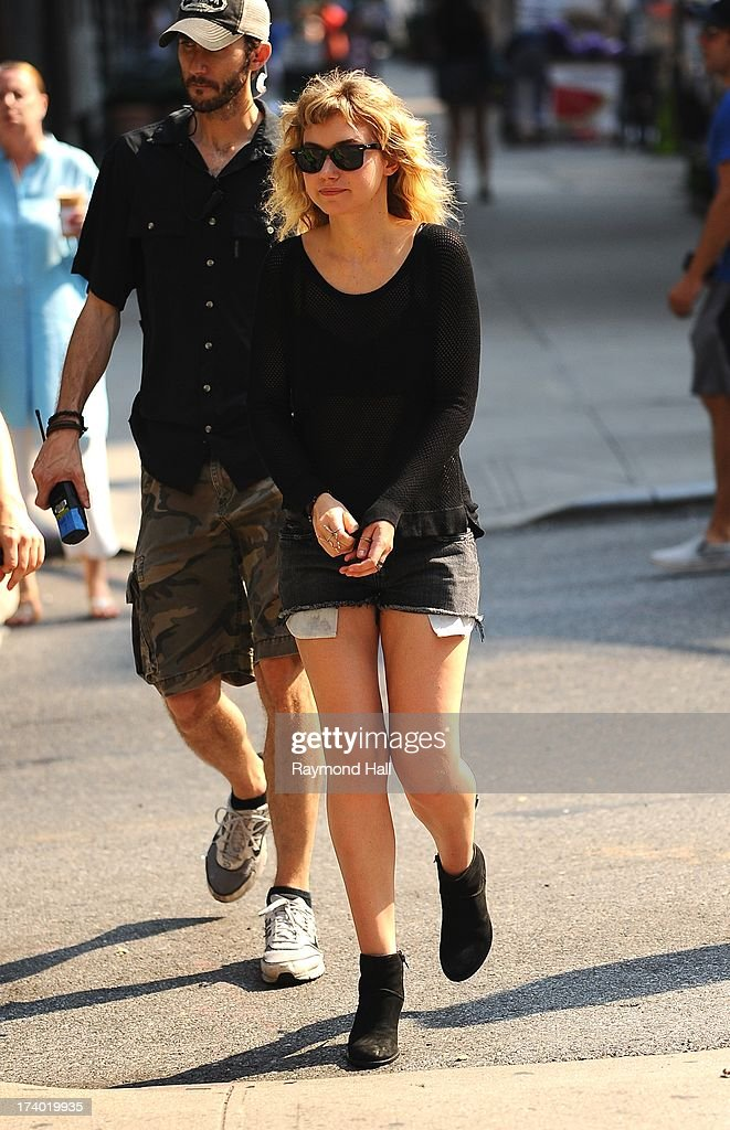 Actress Imogen Poots is seen on the set of 'Squirrels to the Nuts'on July 19, 2013 in New York City.