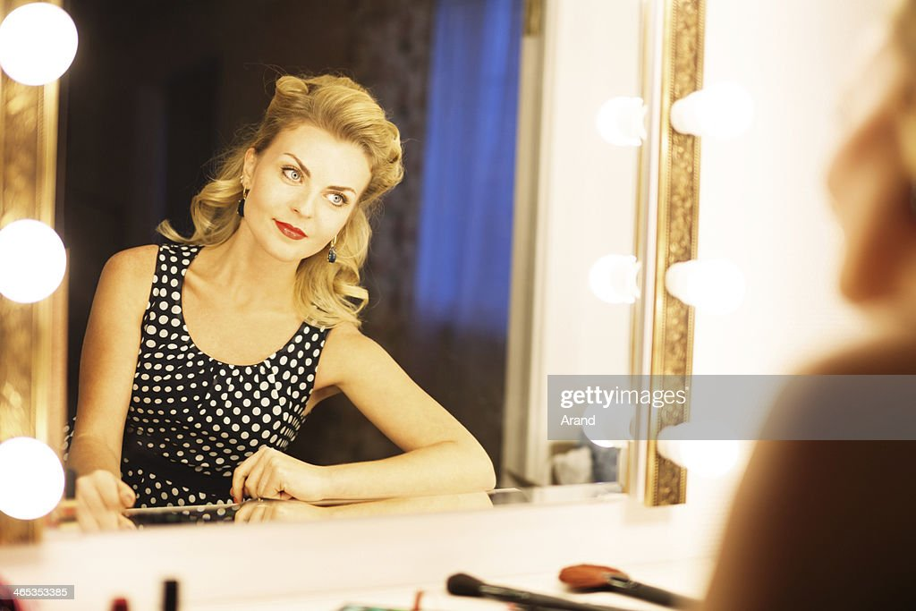 actress in backstage