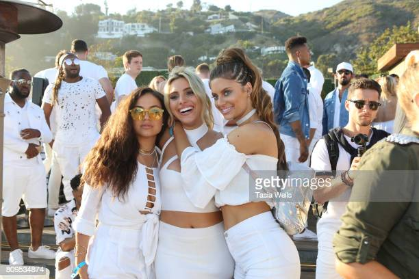 Actress Inanna Sarkis venezuelan internet personality Lele Pons and model Hannah Stocking at the 4th annual 'Red White and Bootsy' July 4th Bash...