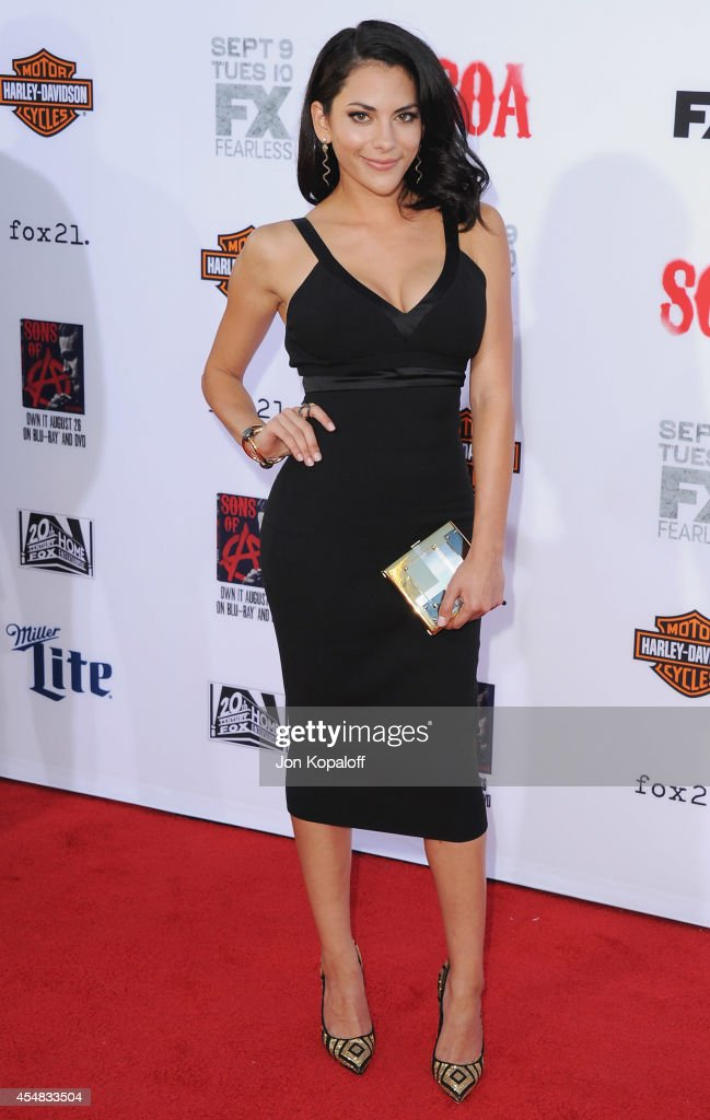 Actress <a gi-track='captionPersonalityLinkClicked' href=/galleries/search?phrase=Inbar+Lavi&family=editorial&specificpeople=7810087 ng-click='$event.stopPropagation()'>Inbar Lavi</a> arrives at FX's 'Sons Of Anarchy' Premiere at TCL Chinese Theatre on September 6, 2014 in Hollywood, California.