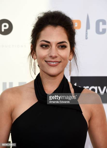 Actress Inbar Lavi arrives at the Bravo 'Imposters' For Your Consideration event with a food and cocktail reception presented by 'Top Chef' at the...