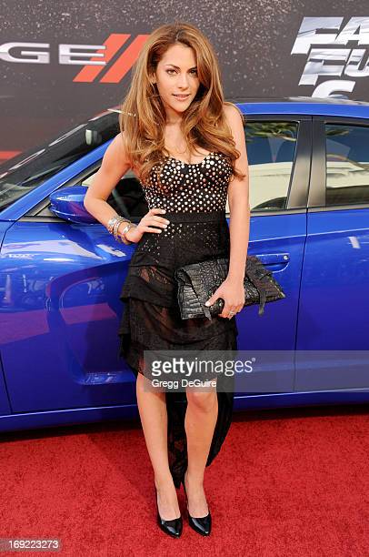 Actress Inbar Lavi arrives at the Los Angeles premiere of 'Fast The Furious 6' at Gibson Amphitheatre on May 21 2013 in Universal City California