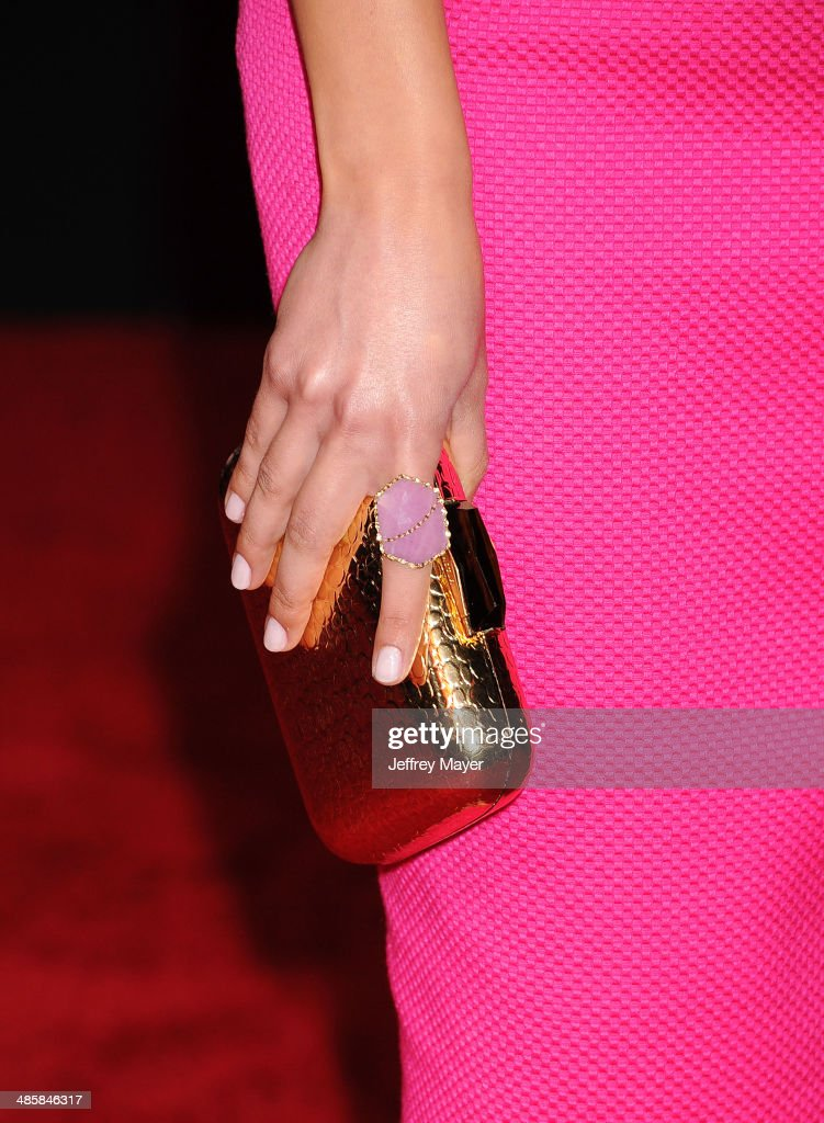 Actress <a gi-track='captionPersonalityLinkClicked' href=/galleries/search?phrase=Inbar+Lavi&family=editorial&specificpeople=7810087 ng-click='$event.stopPropagation()'>Inbar Lavi</a> (handbag, ring detail) at the Los Angeles premiere of 'Need For Speed' at TCL Chinese Theatre on March 6, 2014 in Hollywood, California.