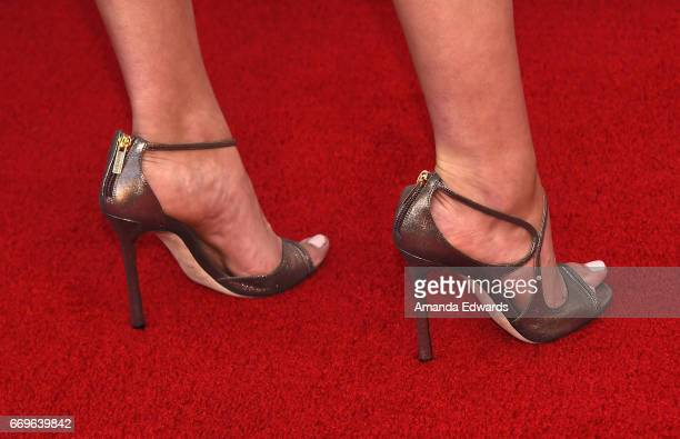 Actress Inbar Lavi shoe detail arrives at the Bravo 'Imposters' For Your Consideration event with a food and cocktail reception presented by 'Top...