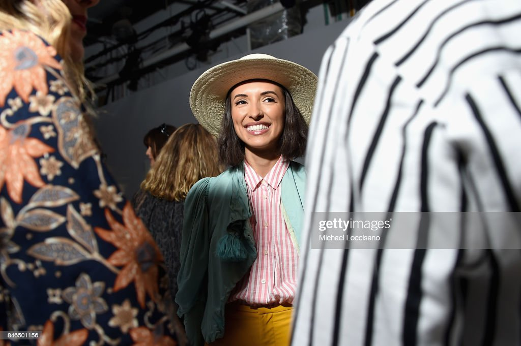 Actress India de Beaufort attends the Chocheng fashion show during New York Fashion Week: The Shows at Gallery 3, Skylight Clarkson Sq on September 13, 2017 in New York City.