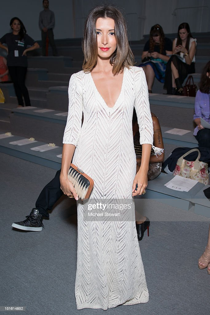 Actress India de Beaufort attends the Mara Hoffman show during Spring 2013 Mercedes-Benz Fashion Week at The Stage Lincoln Center on September 8, 2012 in New York City.