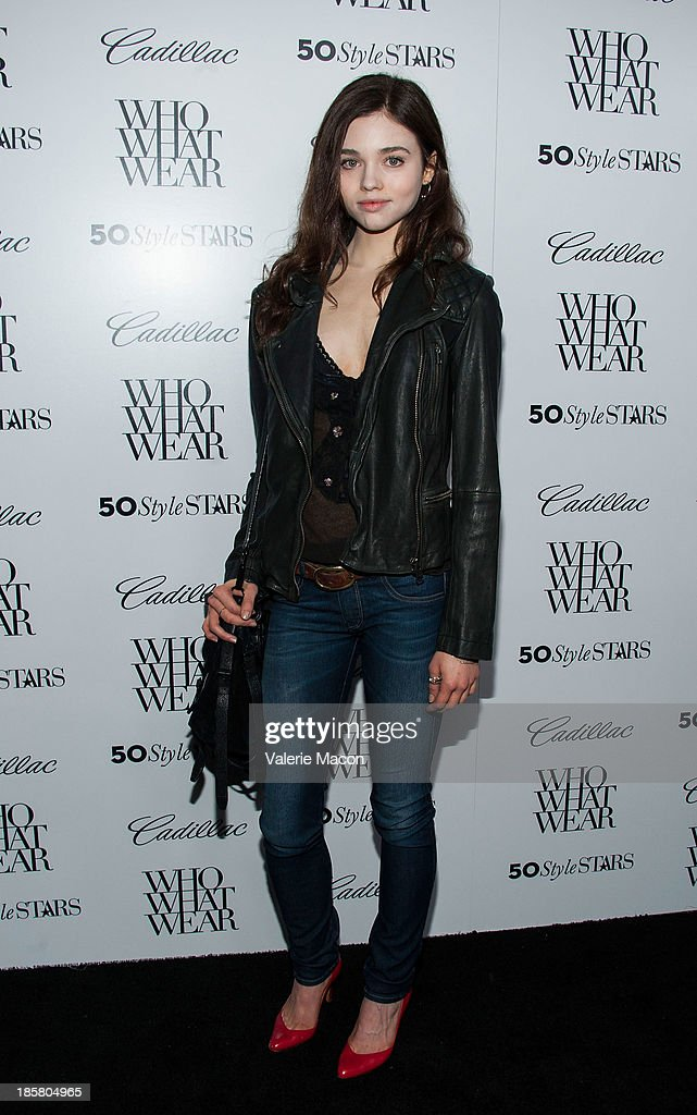 Actress India Eisley arrives at the Who What Wear And Cadillac's 50 Most Fashionable Women Of 2013 Event at The London Hotel on October 24, 2013 in West Hollywood, California.