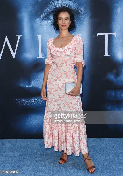 Actress Indira Varma arrives at the premiere of HBO's 'Game Of Thrones' Season 7 at Walt Disney Concert Hall on July 12 2017 in Los Angeles California
