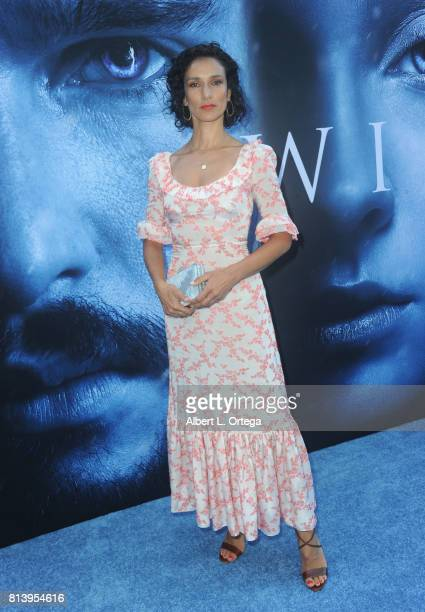 Actress Indira Varma arrives for the Premiere Of HBO's 'Game Of Thrones' Season 7 held at Walt Disney Concert Hall on July 12 2017 in Los Angeles...