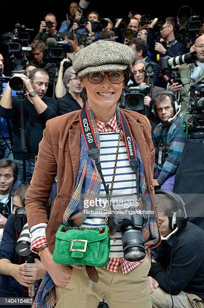 Actress Ines de la Fressange is photographed for Madame Figaro as their special photographer correspondent at the Spring/Summer 2012 Haute Couture...