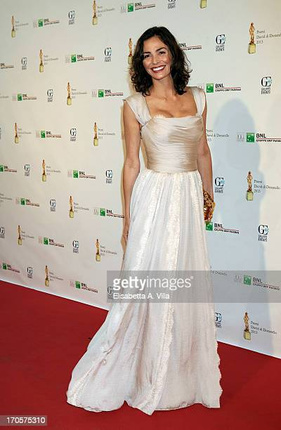 Actress Ines Sastre attends 2013 Premi David di Donatello Ceremony Awards at Dear RAI Studios on June 14 2013 in Rome Italy