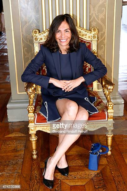 Actress Ines Sastre attends Mayor of Paris Anne Hidalgo Awards the 'Grand Vermeil' Medal to Tennis player Rafael Nadal at Mairie de Paris on May 21...