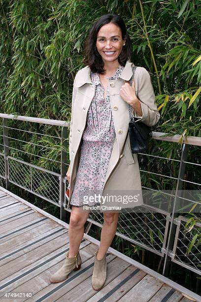 Actress Ines Sastre attends the 2015 Roland Garros French Tennis Open Day Five on May 28 2015 in Paris France
