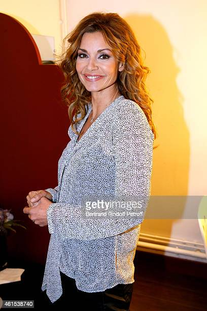 Actress Ingrid Chauvin presents the Theater Piece 'Hibernatus' performed at Theatre de la Michodiere during the 'Vivement Dimanche' French TV Show at...
