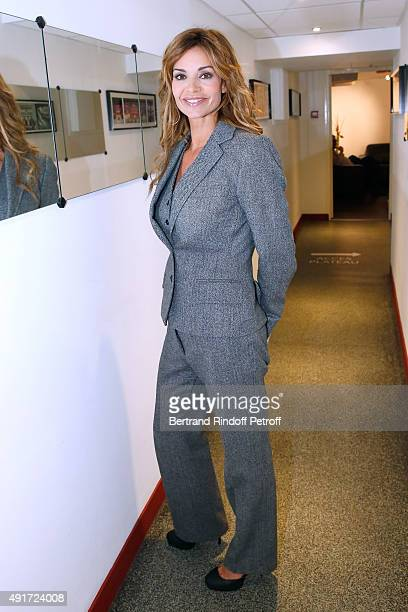 Actress Ingrid Chauvin presents the Theater Play 'Avanti ' performed at 'Theatre des Bouffes Parisiens' during the 'Vivement Dimanche' French TV Show...