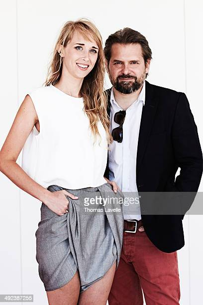 Actress Ingrid Garcia Jonsson and Jerome Dopffer are photographed for Self Assignment on May 18 2014 in Cannes France