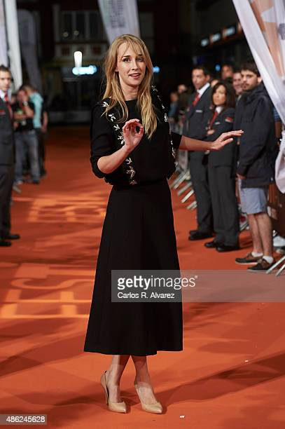 Actress Ingrid Garcia Jonsson attends the 'Apaches' premiere during the 7th FesTVal Television Festival 2015 at the Principal Theater on September 2...