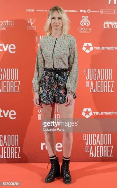 Actress Ingrid Garcia Jonsson attends the 'El Jugador de Ajedrez' photocall at Gran Via cinema on April 25 2017 in Madrid Spain