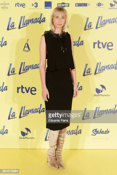 Actress Ingrid Garcia Jonsson attends the 'La Llamada' premiere at Capitol cinema on September 26 2017 in Madrid Spain