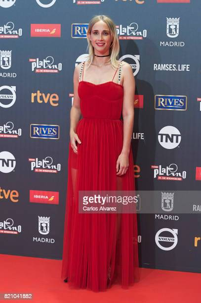 Actress Ingrid Garcia Jonsson attends the Platino Awards 2017 photocall at the La Caja Magica on July 22 2017 in Madrid Spain