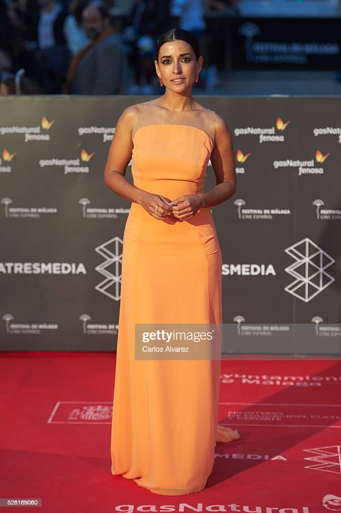 Actress Inma Cuesta attends 'Koblic' premiere at the Cervantes Teather during the 19th Malaga Film Festival on April 29, 2016 in Malaga, .