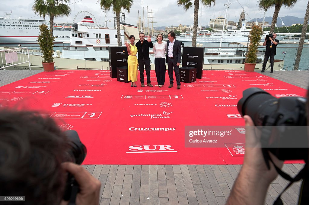 Actress Inma Cuesta, director Sebastian Borensztein, producers Maria Contreras and Pablo Bossi attend 'Koblic' photocall duing the 19th Malaga Film Festival on April 29, 2016 in Malaga, Spain.