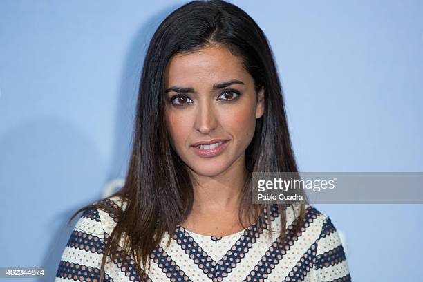 Actress Inma Cuesta poses during a photocall to present 'Las Ovejas No Pierden El Tren' at 'Palafox' cinema on January 27 2015 in Madrid Spain