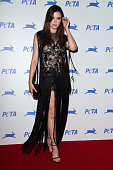 Actress Ireland Baldwin arrives at PETA's 35th Anniversary Party at Hollywood Palladium on September 30 2015 in Los Angeles California