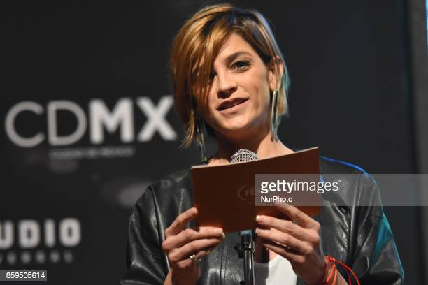 Actress Irene Azuela is seen during a press conference to promote Fenix Film Awards 2017 on October 09 2017 in Mexico City Mexico