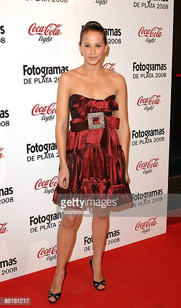Actress Irene Escolar arrives at Fotogramas Magazine Cinema Awards at Joy Eslava Club on March 2 2009 in Madrid Spain
