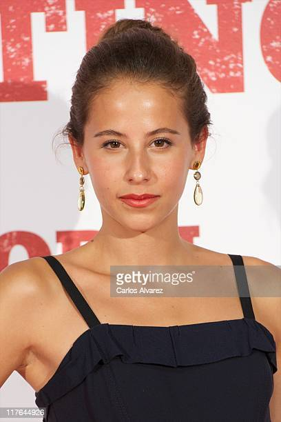 Actress Irene Escolar attends 'Blackthorn Sin Destino' premiere at the Capitol cinema on June 29 2011 in Madrid Spain