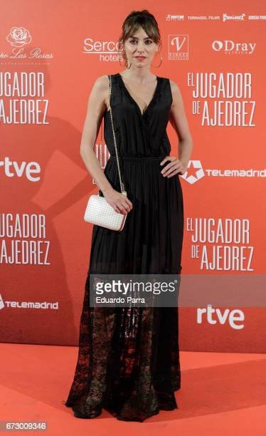 Actress Irene Escolar attends the 'El Jugador de Ajedrez' photocall at Gran Via cinema on April 25 2017 in Madrid Spain