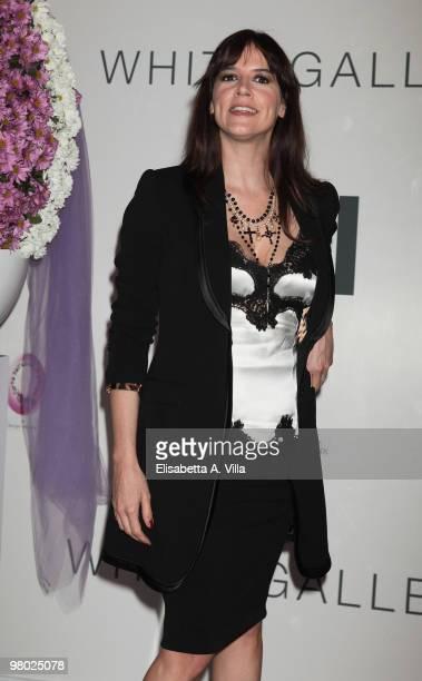 Actress Irene Ferri attends 'L'Arte Nell'Uovo Di Pasqua' Charity Event at the White Gallery on March 24 2010 in Rome Italy