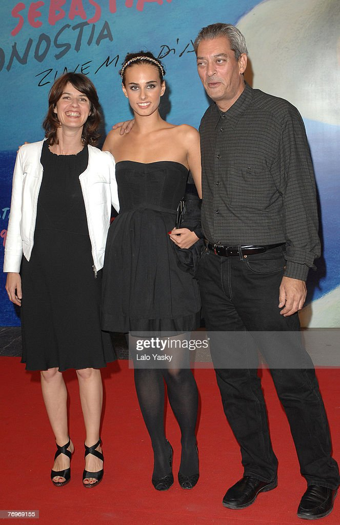 Actress Irene Jacob, actress Sophie Auster and director Paul Auster attend The Inner Life of Martin Frost Premiere at the Kursaal Palace during the 2007 San Sebastian Film Festival, on September 23, 2007 in San Sebastian, Spain.