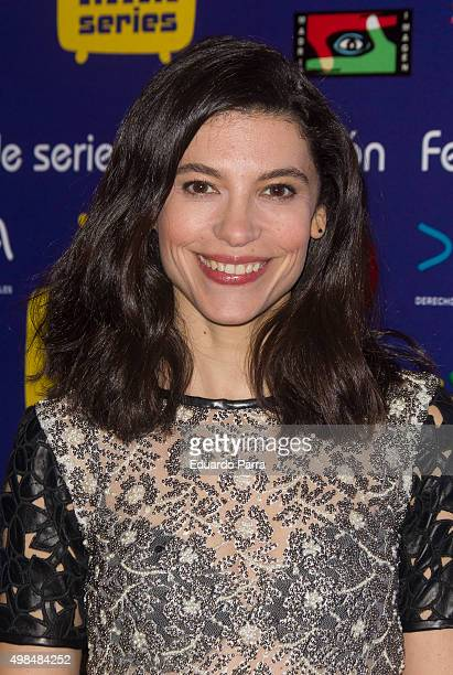 Actress Irene Visedo attends 'Cuentame como paso' photocall at Matadero Madrid on November 23 2015 in Madrid Spain