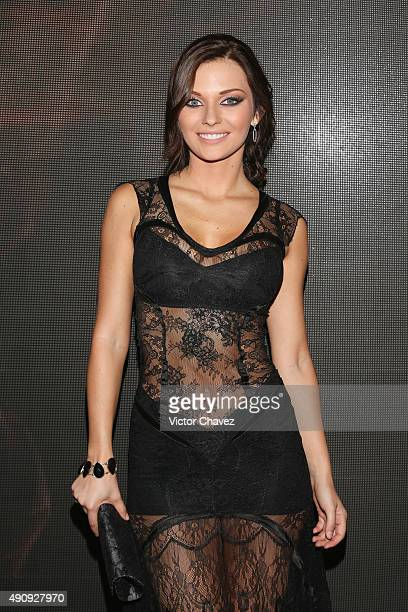 Actress Irina Baeva attends the 'Pasion y Poder' press conference at Live Aqua Bosques on October 1 2015 in Mexico City Mexico