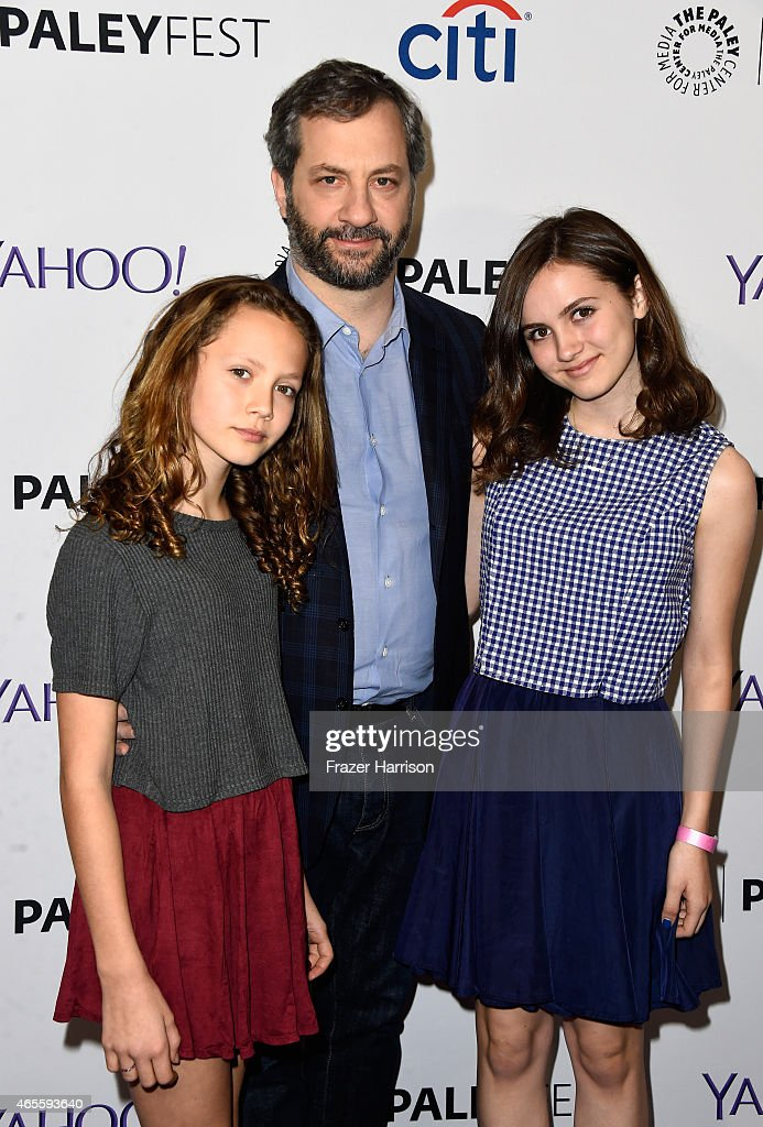 Actress Iris Apatow executive producer Judd Apatow and actress Maude Apatow attend The Paley Center For Media's 32nd Annual PALEYFEST LA 'Girls' at...