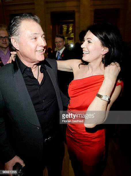 Actress Iris Berben and former husband Gabriel Lewy attend the '60th Berlin Film Festival FESTIVAL NIGHT 2010' at Palais am Festungsgraben on...