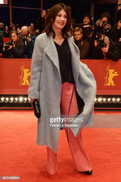 Actress Iris Berben attends the 'Logan' premiere during the 67th Berlinale International Film Festival Berlin at Berlinale Palace on February 17 2017...