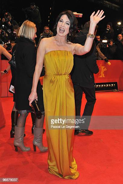 Actress Iris Berben attends the 'Tuan Yuan' Premiere during day one of the 60th Berlin International Film Festival at the Berlinale Palast on...