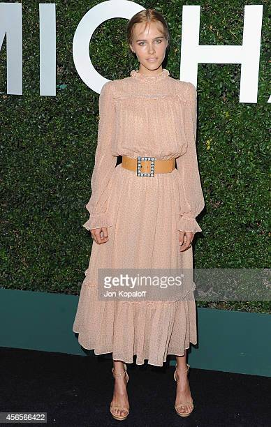 Actress Isabel Lucas arrives at Michael Kors Celebrates The Launch Of Claiborne Swanson Frank's 'Young Hollywood' Portrait Book on October 2 2014 in...