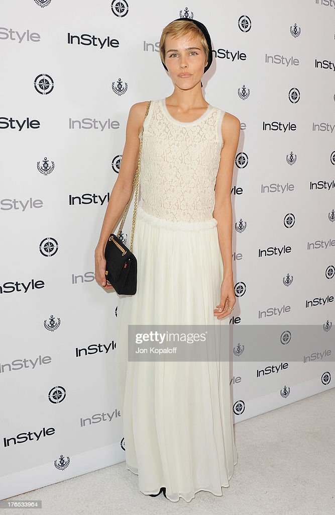 Actress <a gi-track='captionPersonalityLinkClicked' href=/galleries/search?phrase=Isabel+Lucas&family=editorial&specificpeople=242957 ng-click='$event.stopPropagation()'>Isabel Lucas</a> arrives at the 13th Annual InStyle Summer Soiree at Mondrian Los Angeles on August 14, 2013 in West Hollywood, California.