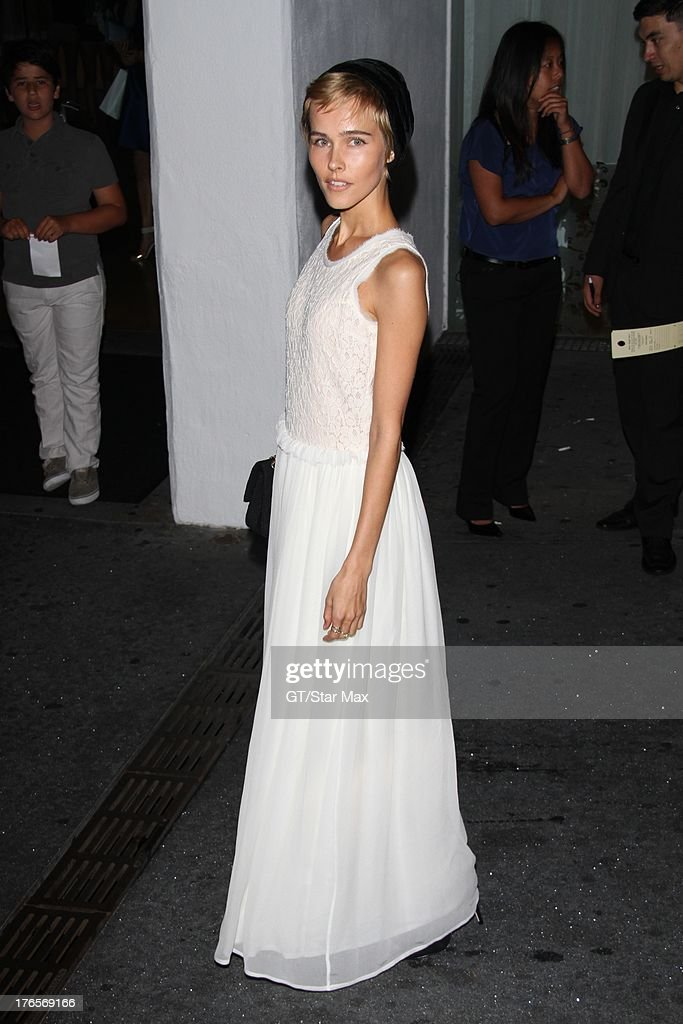 Actress Isabel Lucas as seen on August 14, 2013 in Los Angeles, California.