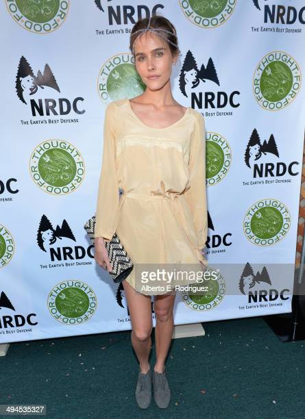 Actress Isabel Lucas attends NDRC Food For Thought Benefit celebrating safe and sustainable eating on May 29 2014 in Santa Monica California