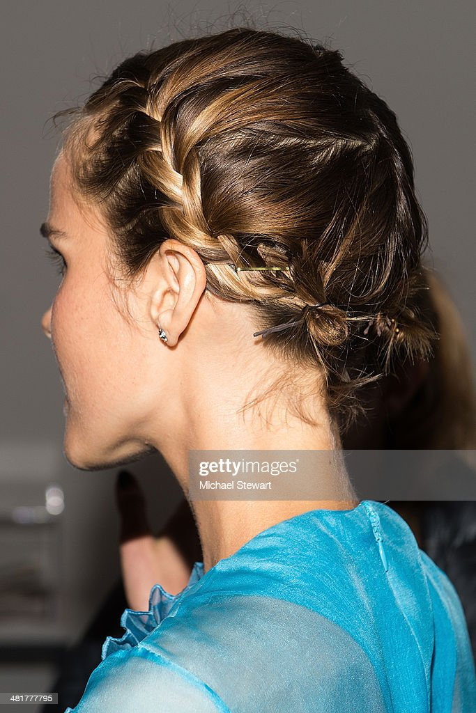 Actress <a gi-track='captionPersonalityLinkClicked' href=/galleries/search?phrase=Isabel+Lucas&family=editorial&specificpeople=242957 ng-click='$event.stopPropagation()'>Isabel Lucas</a> (hair detail) attends the 'Engram' screening at the Celeste Bartos Theater at the Museum of Modern Art on March 31, 2014 in New York City.