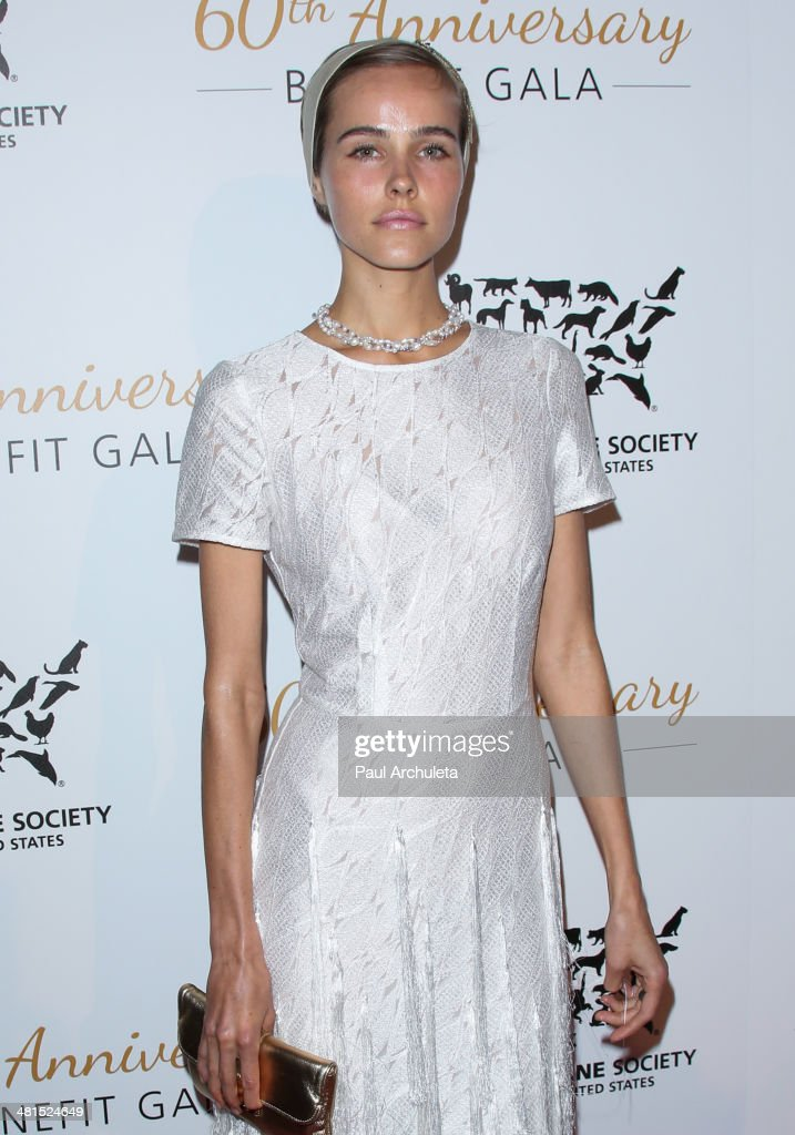 Actress <a gi-track='captionPersonalityLinkClicked' href=/galleries/search?phrase=Isabel+Lucas&family=editorial&specificpeople=242957 ng-click='$event.stopPropagation()'>Isabel Lucas</a> attends the Humane Society Of The United States 60th Anniversary Benefit Gala at The Beverly Hilton Hotel on March 29, 2014 in Beverly Hills, California.