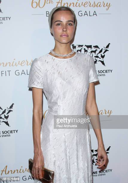 Actress Isabel Lucas attends the Humane Society Of The United States 60th Anniversary Benefit Gala at The Beverly Hilton Hotel on March 29 2014 in...