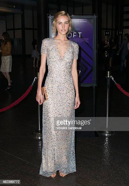 Actress Isabel Lucas attends the Los Angeles special screening of 'The Loft' at Directors Guild Of America on January 27 2015 in Los Angeles...